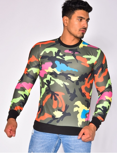 Sweat camouflage multicolore
