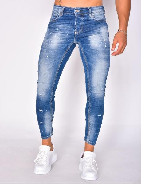 Jeans à tâches