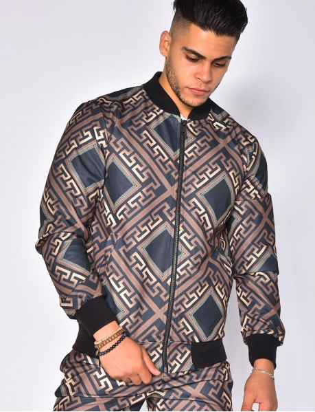 Jacket with Geometrical Pattern