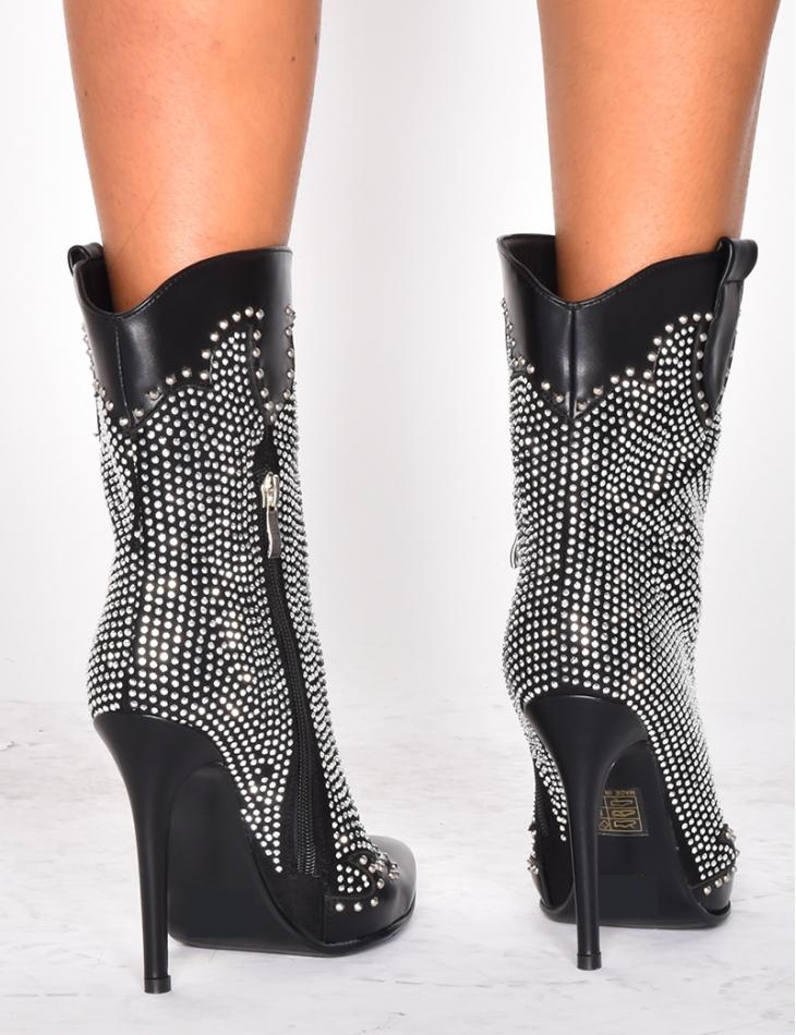 Ankle Boots with Diamantés