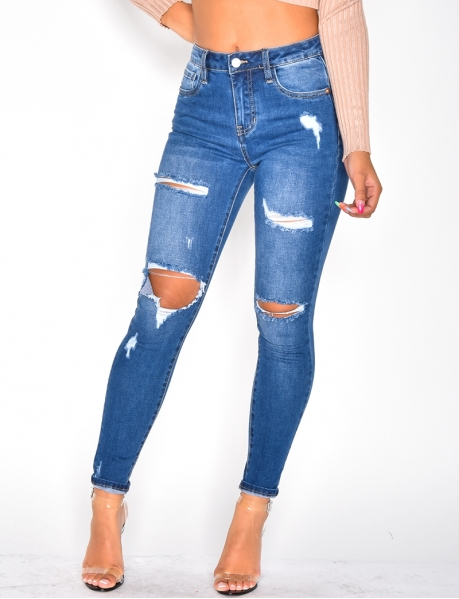 Jeans Skinny Fit destroy