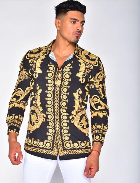 Chemise fluide à motif baroque