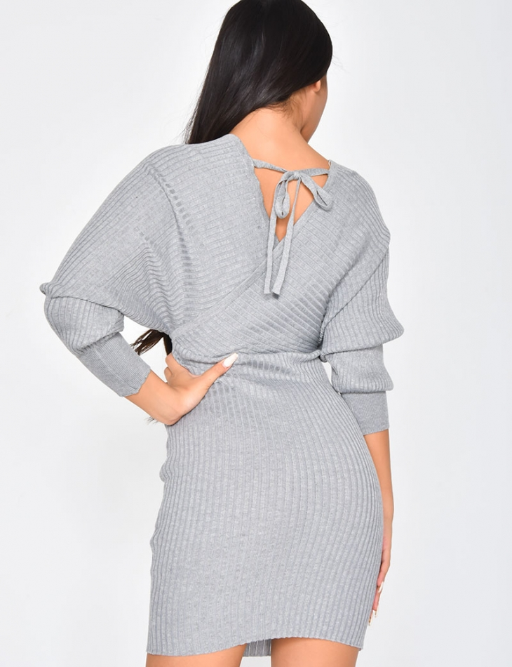 Ribbed Wrapover Dress