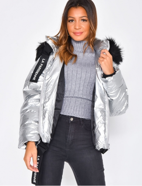 Padded Jacket with 'la parisienne' Belt
