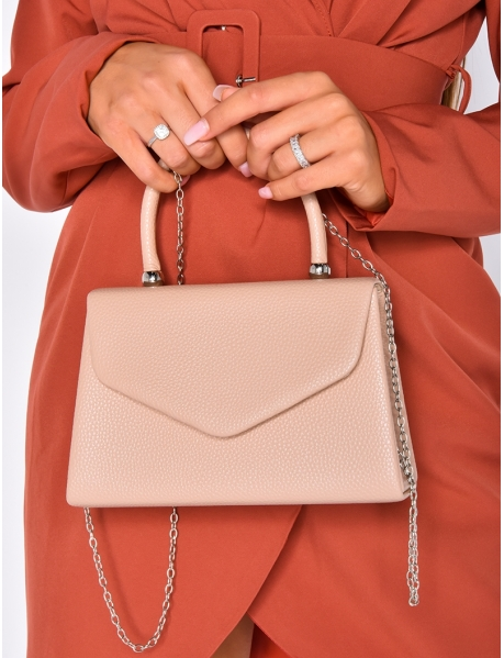 Small Faux Leather Bag with Strap