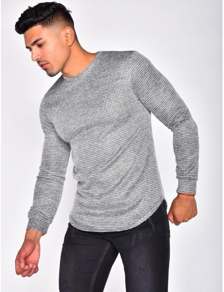 Long Sleeved Flecked T-shirt
