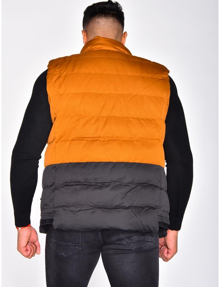 Two-Tone Sleeveless Thermal Jacket