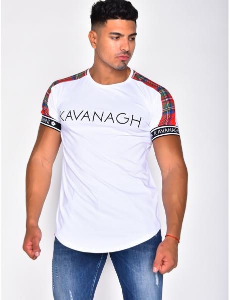 'KAVANAGH' T-shirt with Tartan Stripes