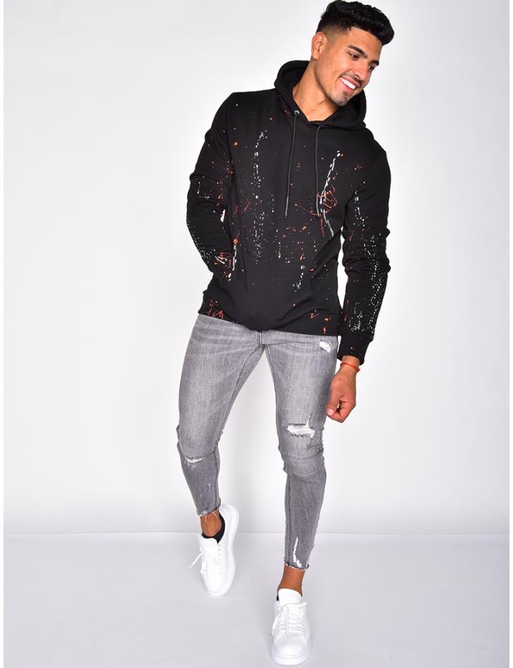 Sweatshirt with Paint Flecks