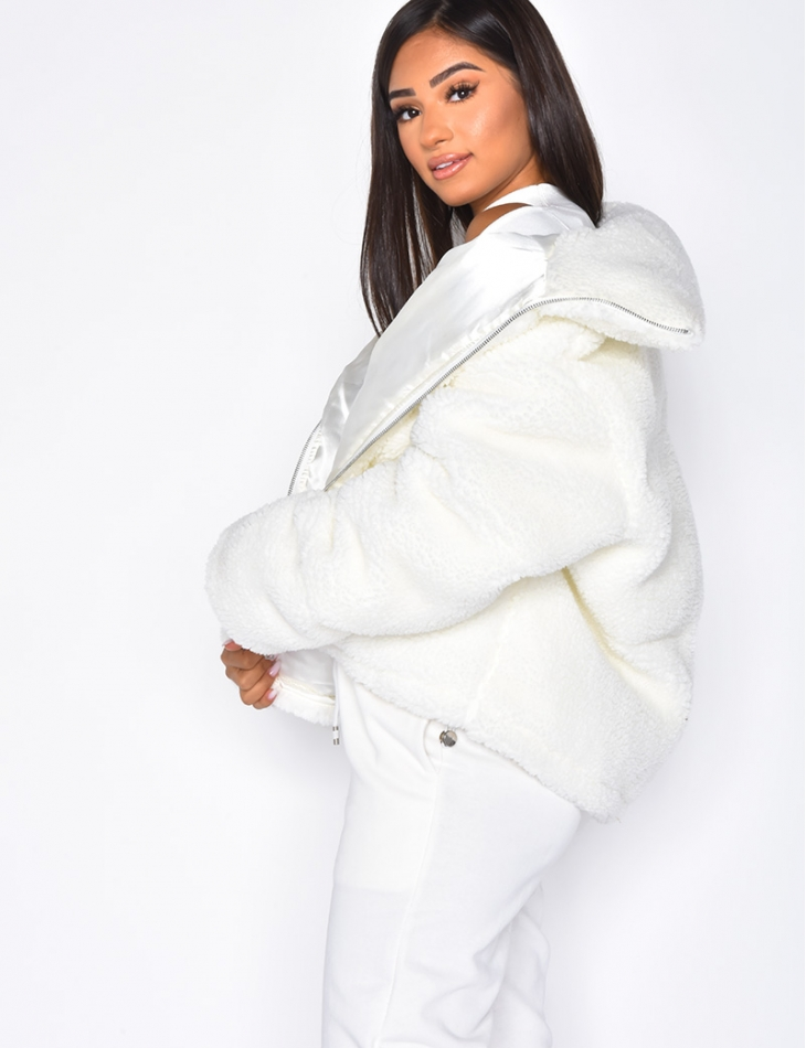 Short Faux Fur Jacket