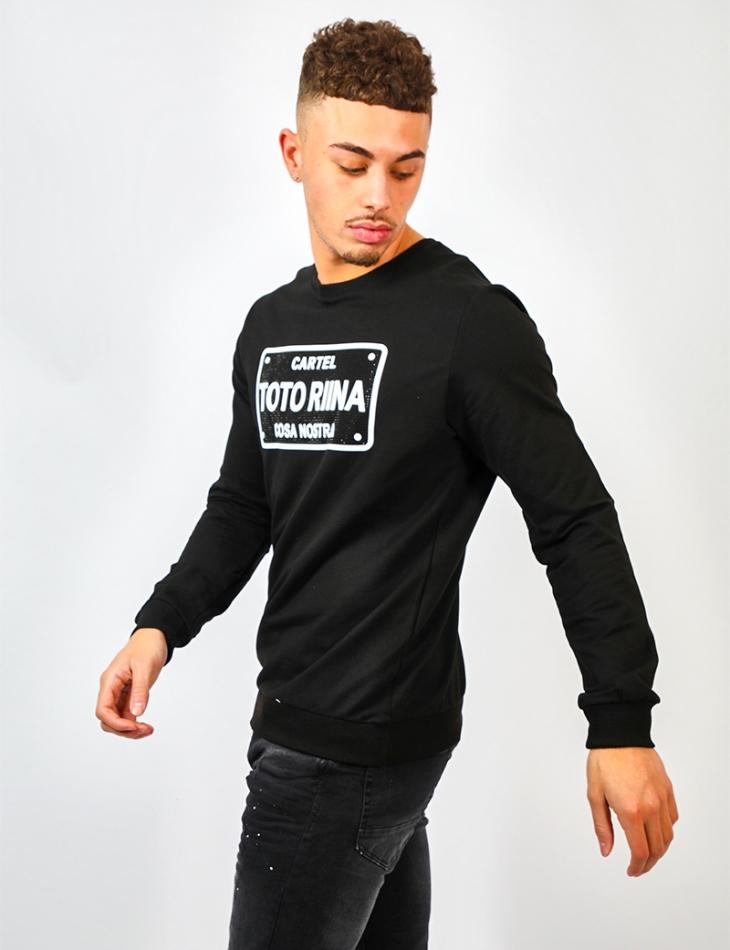 'TOTORINA' Sweatshirt with Rhinestones