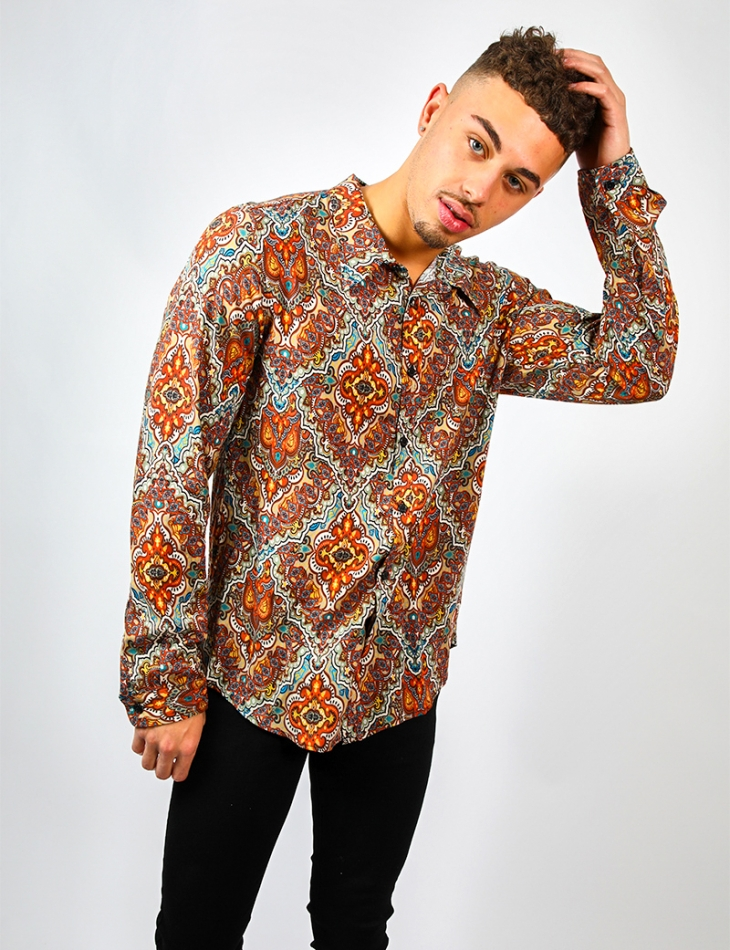 Loose Fit Shirt with Pattern