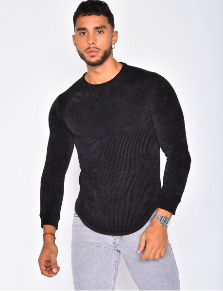 Long Sleeved Flecked T-shirt