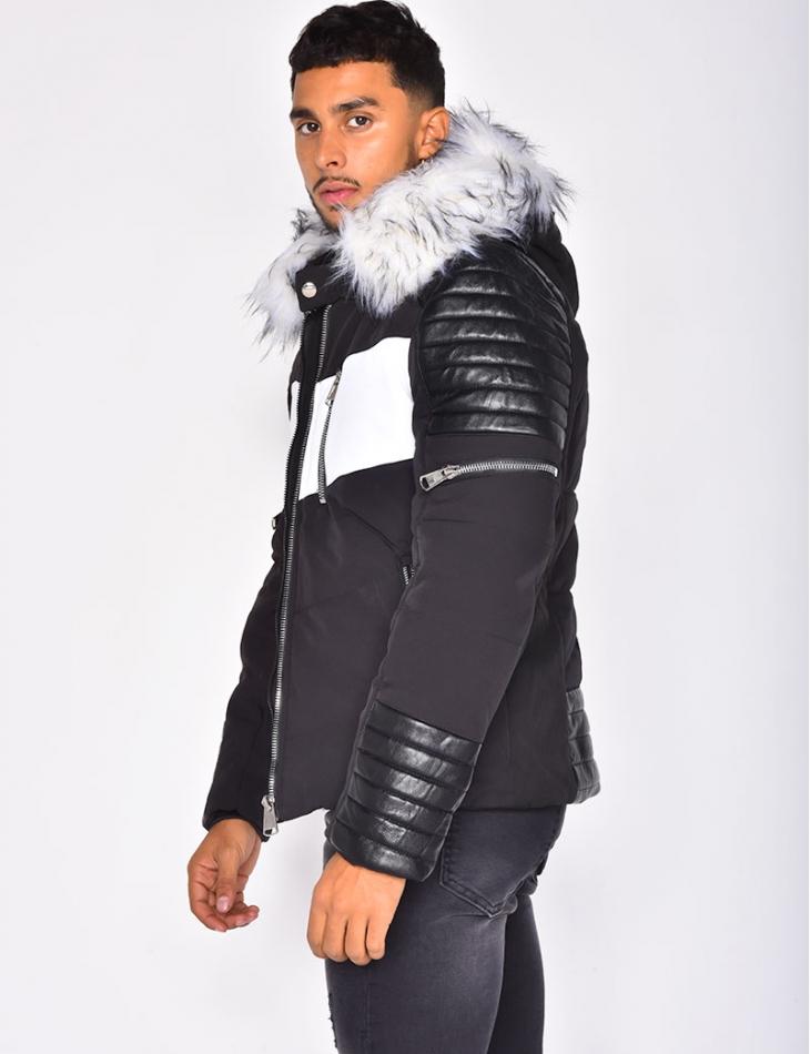 White Fur Padded Jacket