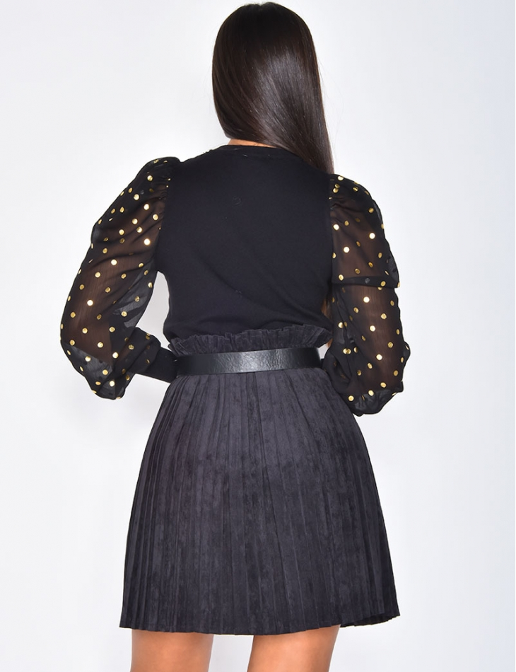 Polka Dot Jumper with Transparent Sleeves