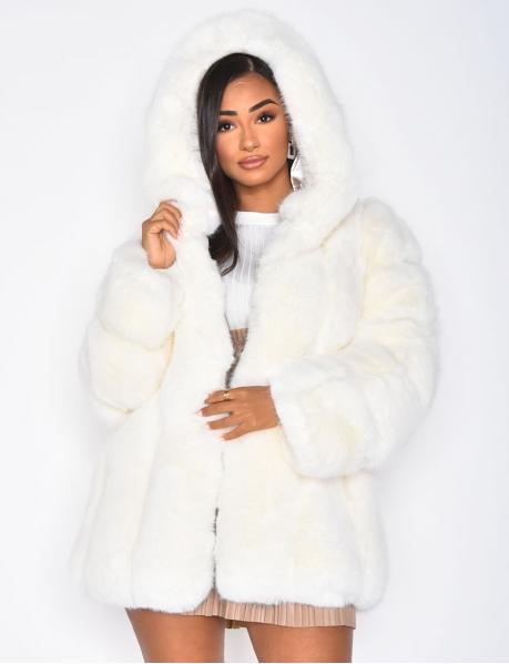 Premium Vegan Fur Jacket with Hood