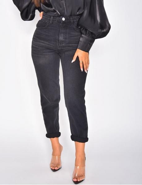Jeans boyfriend noir