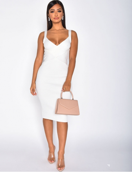 Ribbed Cut Out Dress