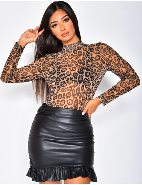 Long Sleeved Leopard Top