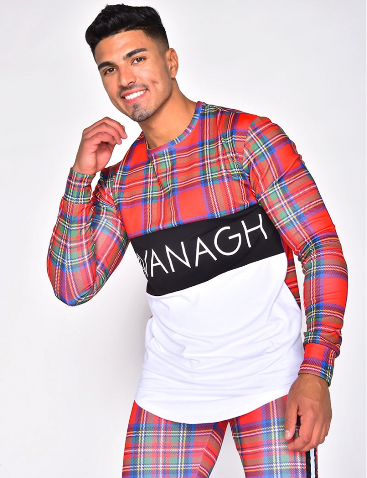 """KAVANAGH"" Checked Jumper with Sleeves"