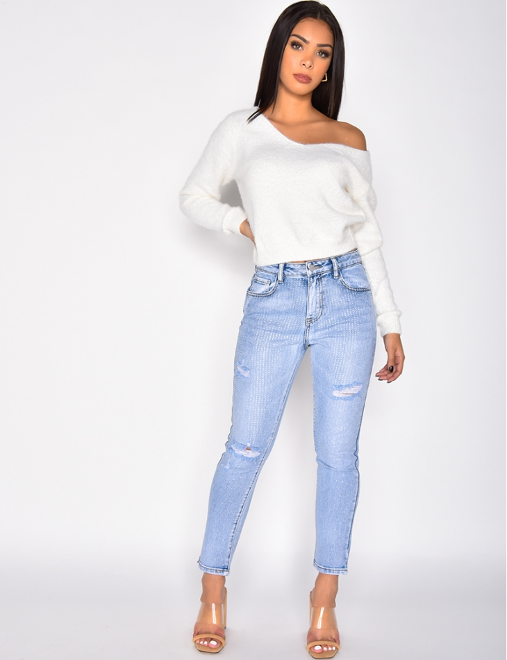 Jeans  à strass