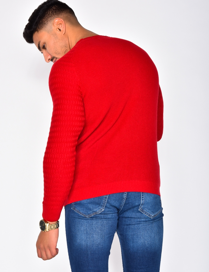 Ribbed Jumper with Round Neckline