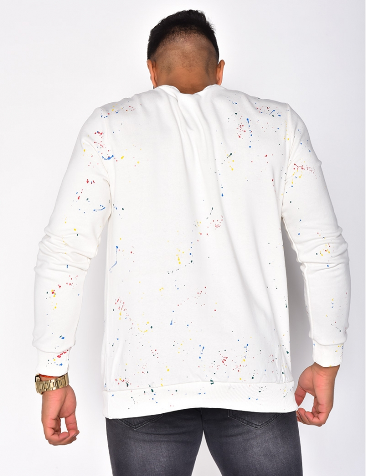 """Breezy"" Sweatshirt with Paint Flecks"