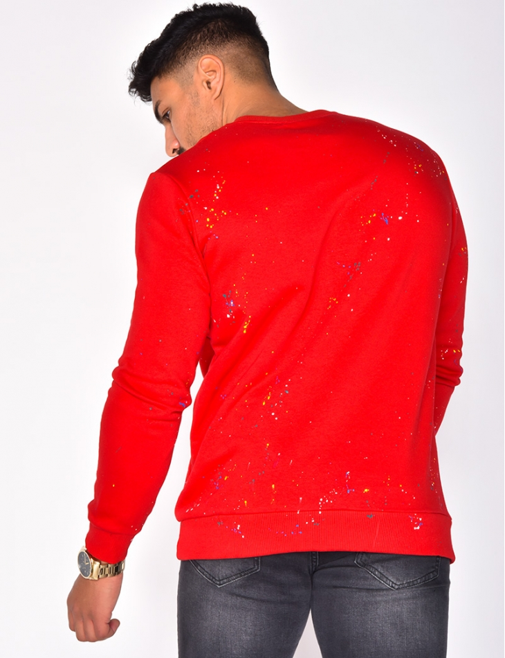 """Breezy"" Sweatshirt with Paint Flecks"
