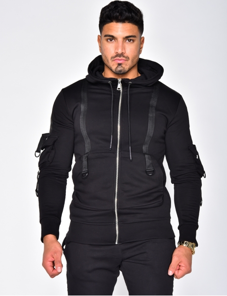 Hooded Sweatshirt with Straps