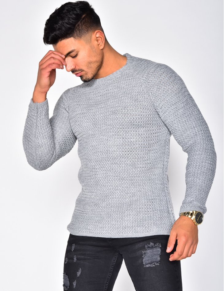 Pull en laine col rond