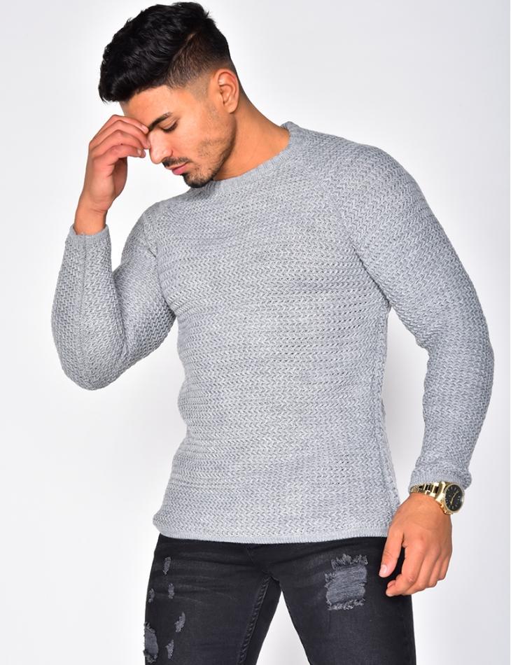 Wool Jumper with Round Neckline