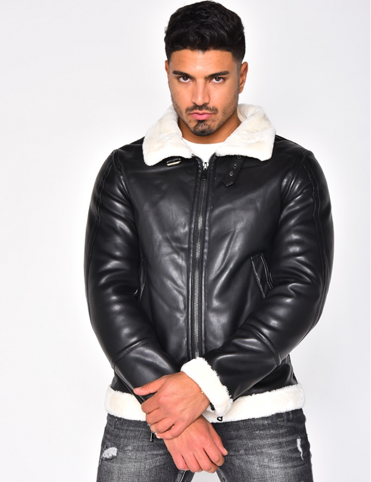 Fur-lined Leather Jacket
