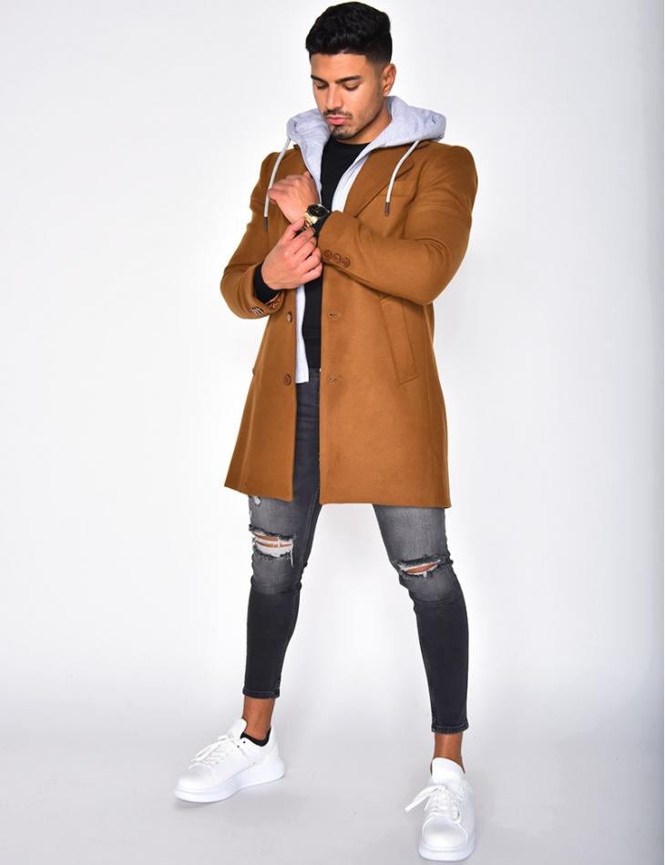 Sweatshirt Style Coat with Hood