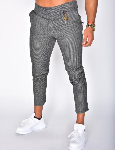 Pantalon à carreaux à breloques