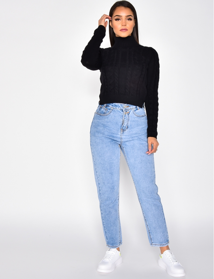 Thick Short Cable Knit Jumper