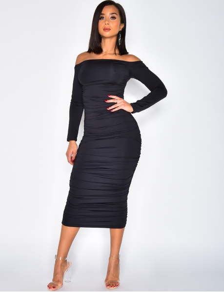 Long Bodycon Dress with Long Sleeves
