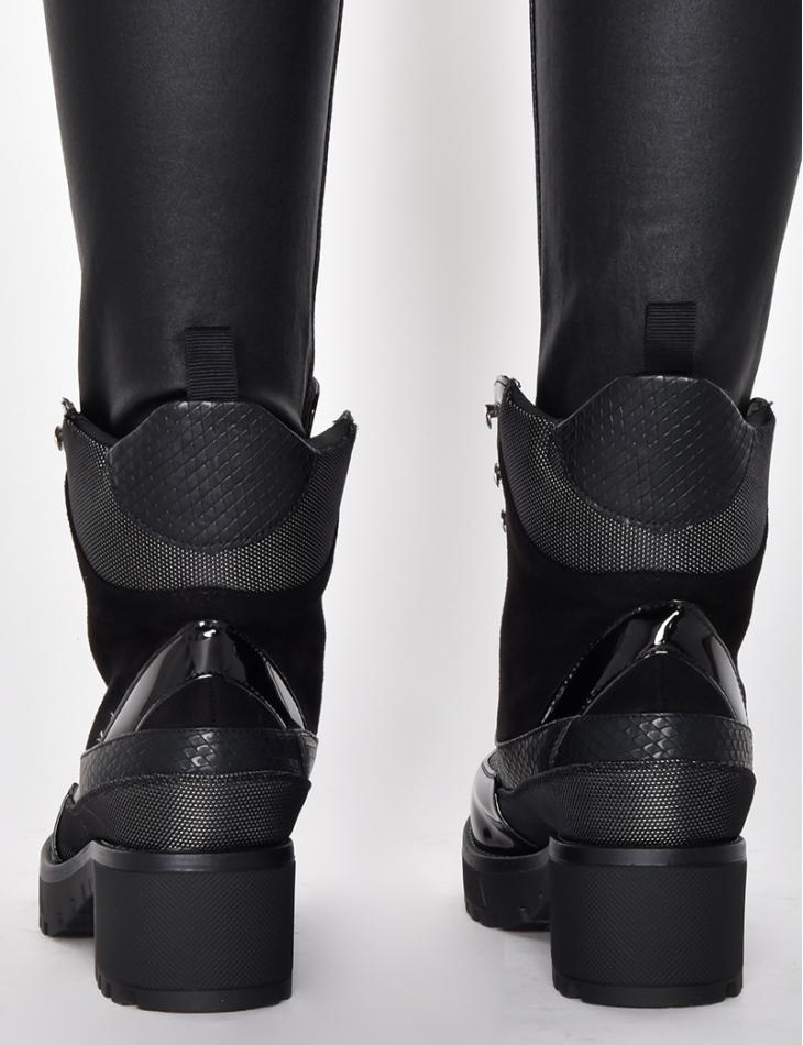 Bi Material Combat Boots