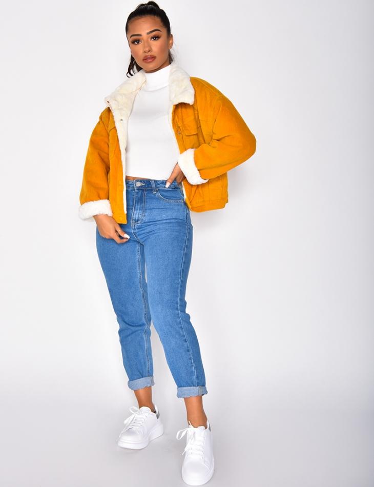 Fur-Lined Velvet Jacket