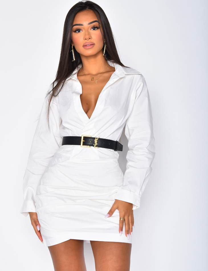 Robe Chemise Cache Coeur Jeans Industry