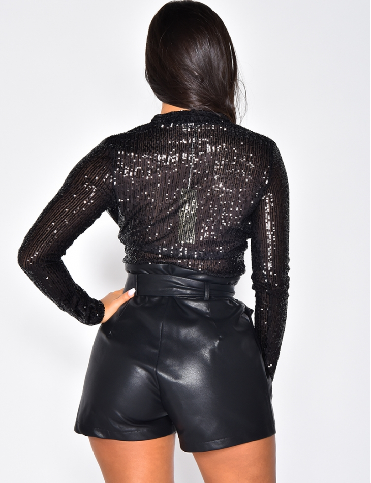 Bodysuit with Sequins