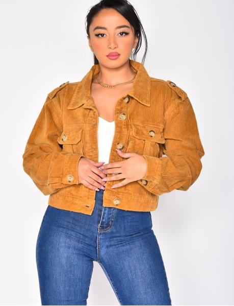 Velvet Jacket with Pockets