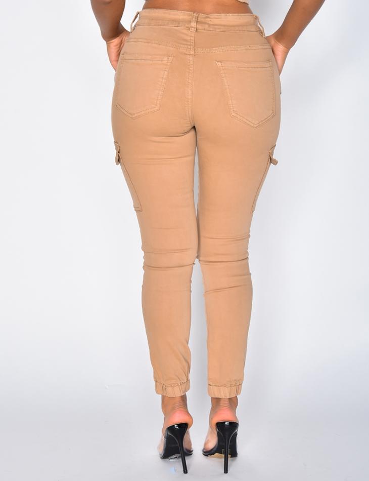 Beige Cargo Jeans