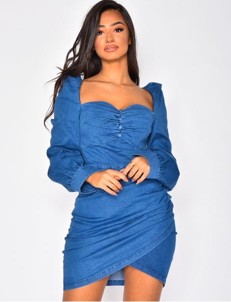 Romantic Denim Dress