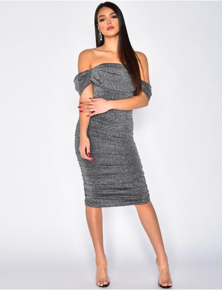 Bustier-Kleid mit Pailletten