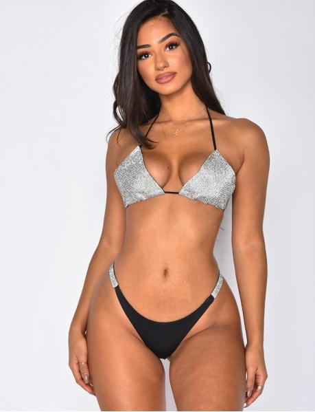 Bikini 2 pièces à strass