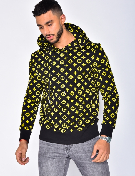 Sweatshirt with Hood and Pattern