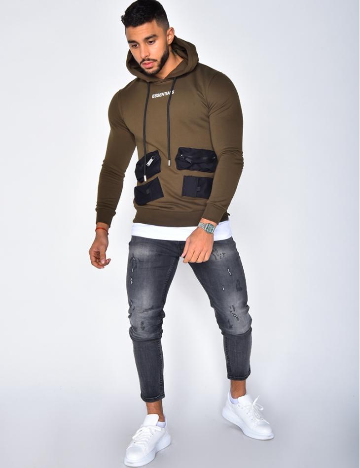 """""""Essentials"""" Sweatshirt with Hood"""