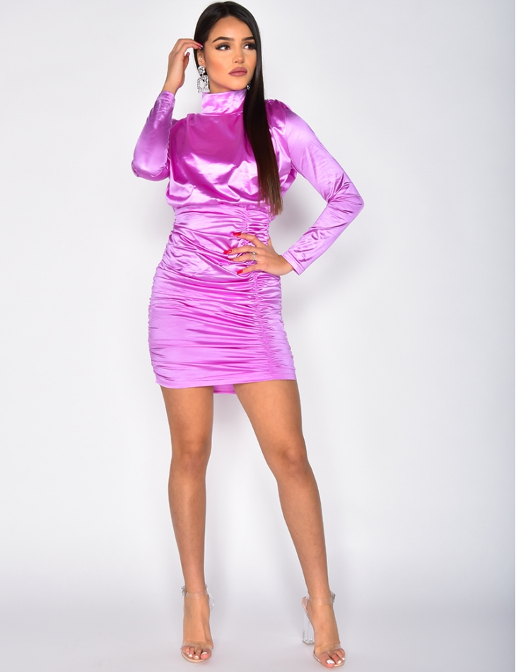 Satin Drape Dress