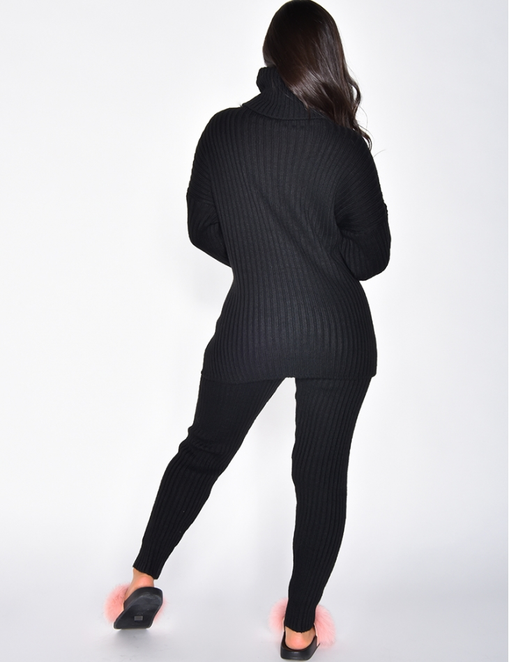 Wool Polo Neck Jumper & Leggings Co-ord