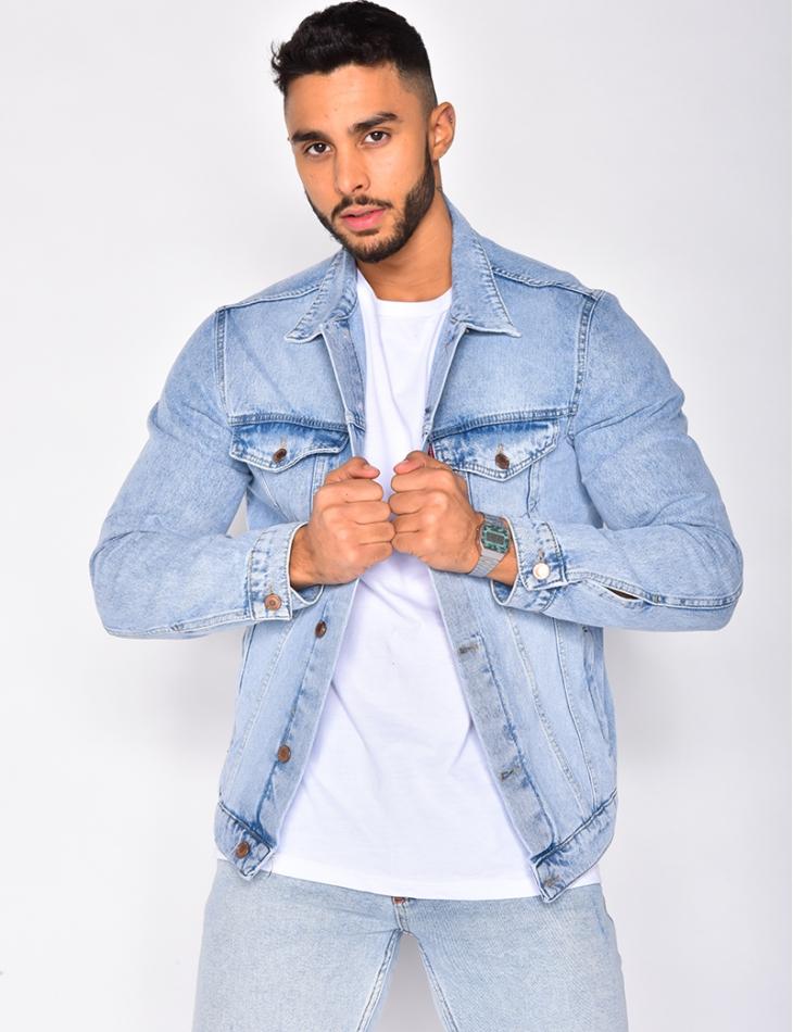 Veste en jeans clair